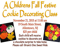 Children's Fall Festive Cookie Decorating Class